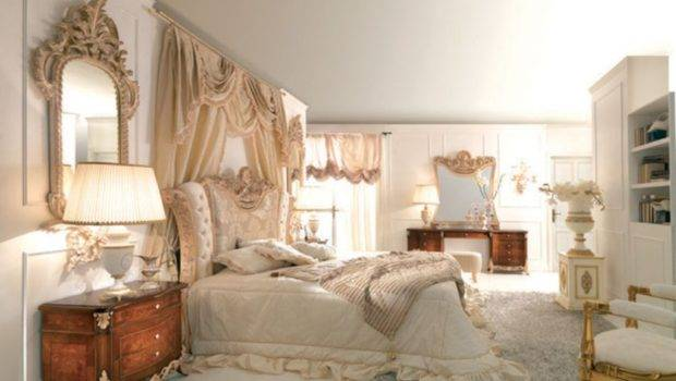 Elegant Canopy Bed Curtain Vintage Bedroom Decorating Ideas