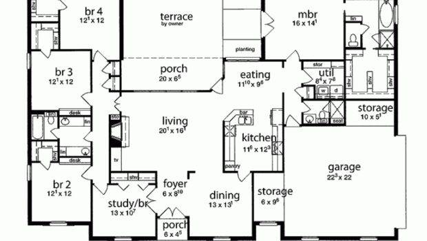 Eplans Tudor House Plan Five Bedroom Square Feet