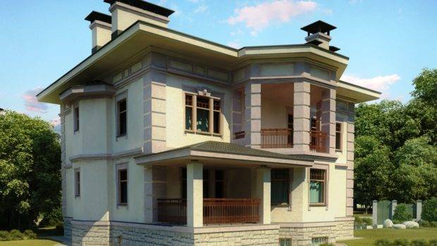 Europe Design House Front Elevation Architectural