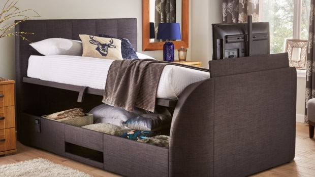 Evolution Slate Ottoman Bed Dreams