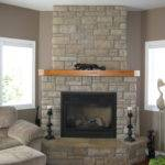Excellent Neutral Stone Wall Panelling Corner Fireplace