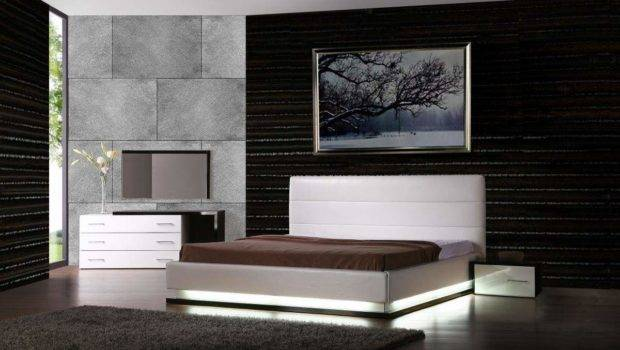Exotic Leather Modern Contemporary Bedroom Sets Feat Light Jersey New