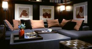 Exotic Living Room Idea Black Contemporary