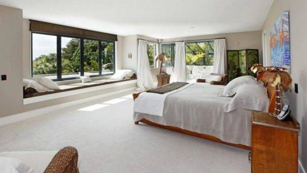 Expansive Master Bedroom Views Window Seat Olpos Design
