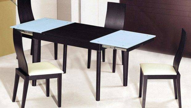 Extendable Wooden Glass Top Modern Dining Table Sets Columbus