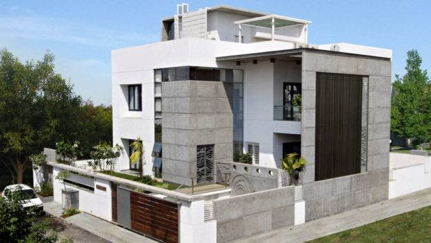 Exterior Plan Lavish Cube Styled Home Design Smaller Spaces