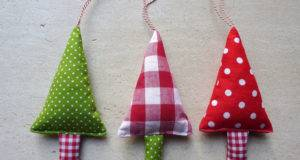Fabric Christmas Ornaments Tree Decorations Green Fromjeanne