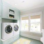 Fabulous Laundry Room Features Cabinets Painted Blue Benjamin Moore