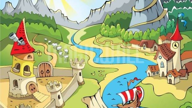 Fairy Tale Land Wall Murals Decals Posters Prints