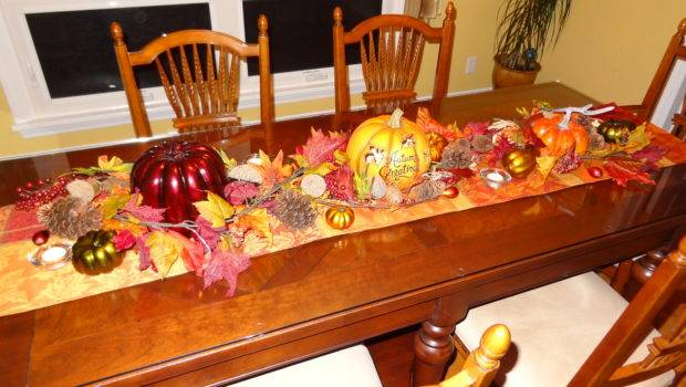 Fall Decorations Dining Room Table Holiday Fun Pinterest