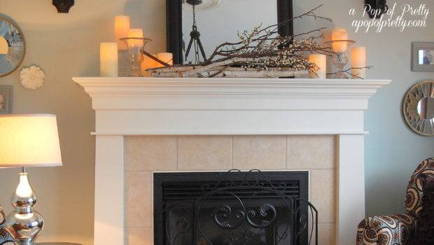 Fall Mantel Decor Pop Pretty Blog Canadian Home Decorating