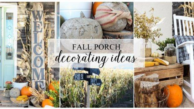 Fall Porch Decorating Ideas Wood Grain Cottage