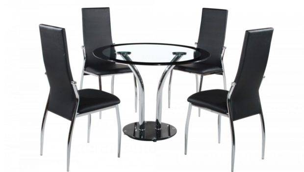 Farren Round Glass Dining Table Chairs Blue Ocean Interiors