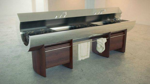 Fascinating Innovative Kitchens Curvaceous Countertops Kitchen