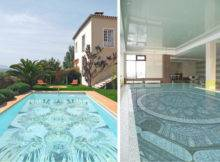 Fascinating Swimming Pool Design Mosaic Glass Tiles Glassdecor