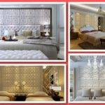 Faux Leather Tile Bedroom Accent Walls