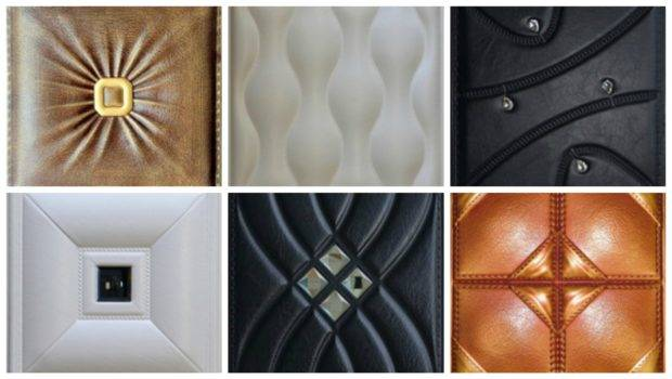 Faux Leather Wall Panels Residential Commercial Settings