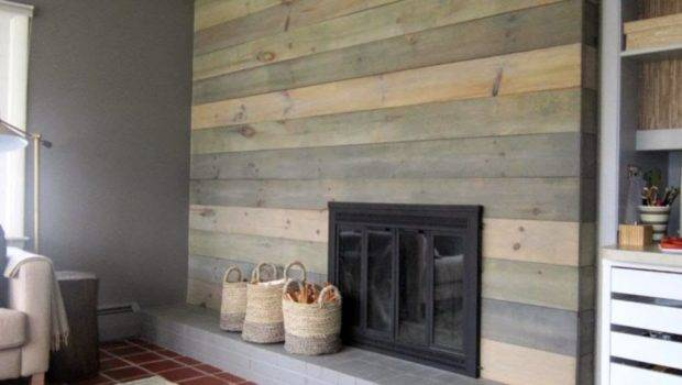 Faux Wood Wall Panels Covering Design Ideas