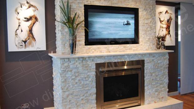 Feature Wall Fire Place Using Stone Cladding Bricklaying Job