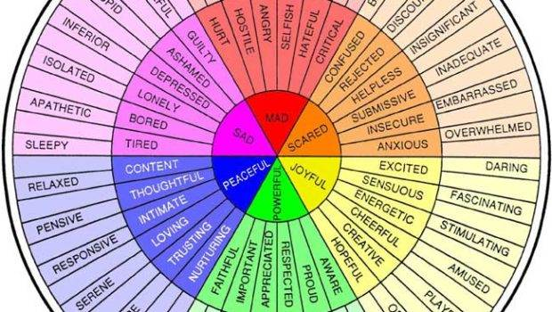 Feelings Wheel Adult Children Alcoholics Arizona