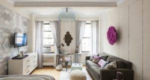 Feminine Small Studio Apartment Manhattan Freshome