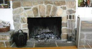 Fieldstone Fireplace Before