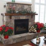 Fieldstone Fireplace Inside Granite Work House Reclaimed Fir