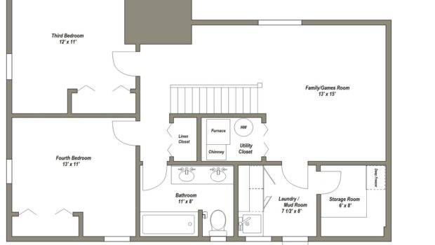 Finished Basement Floor Plans Younger Unger House Plan
