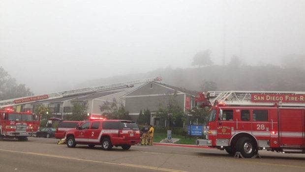 Fire Breaks Out Mission Valley Apartment Complex Nbc San Diego
