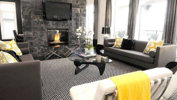 Fireplace Adds Color Scheme Exquisite Living Room