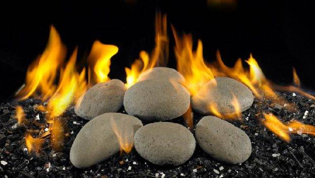Fireplace Bbq Gas Logs Fire Stones River Rock Fyre Assorted