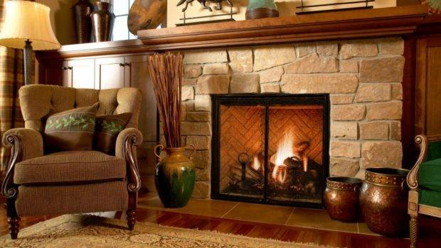 Fireplace Beautiful Vintage Design Ideas Brown Chair Horse