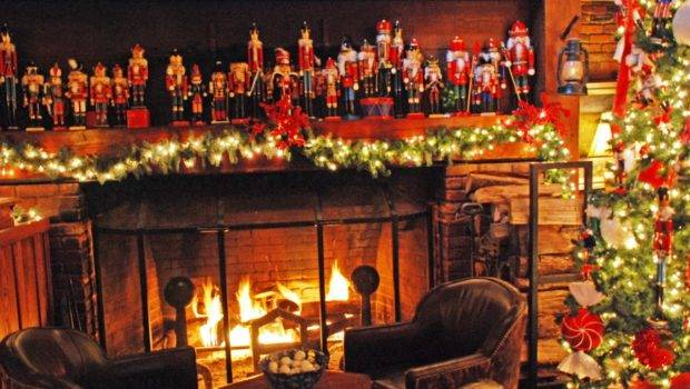 Fireplace Decorations Decor Fantastic Christmas