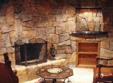 Fireplace Interior Stone Ideas Wall