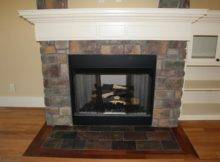 Fireplace Provided Classic Tile Stone Design Ideas