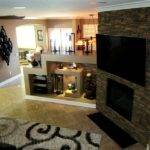 Fireplace Wall Accented Dry Stack Panels New Home