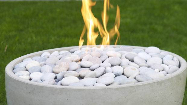 Fireproof River Rocks Top Clean Firebowl