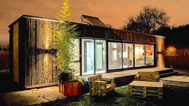 First Shipping Container Home Built Days Houses Homeless People