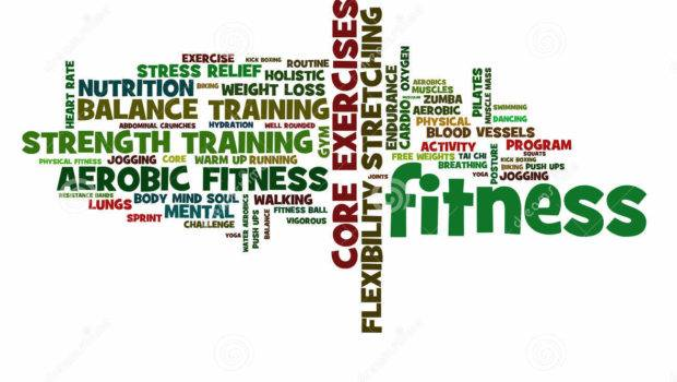 Fitness Its Benefits Forms Vibrant Energetic Colors