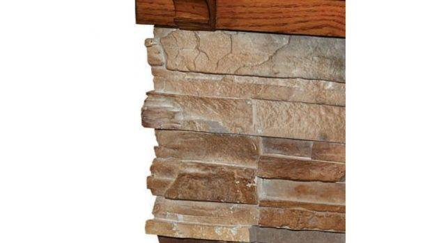 Flagstone Electric Fireplace Close Mantel