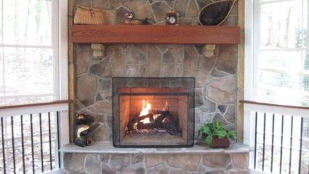 Flagstone Fireplace Ideas