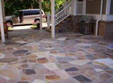 Flagstone Patio Fieldstone Stoop Mixed Colors City
