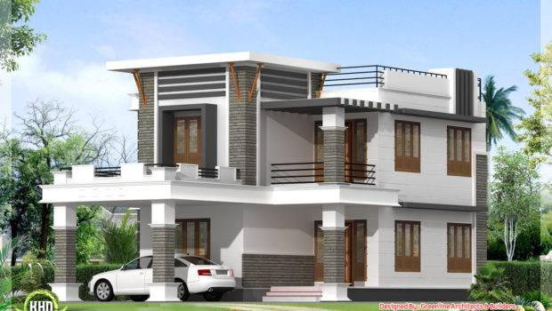 Flat Roof Home Design Kerala Architecture