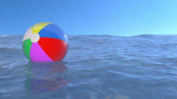 Floating Ball Water Loop Ready Animation Motion
