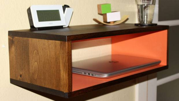 Floating Nightstand Entryway Console Bookshelf Akatictac