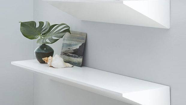 Floating Shelves Create Contemporary Wall Display Design Dot