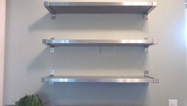 Floating Stainless Steel Kitchen Shelves Kitchentoday