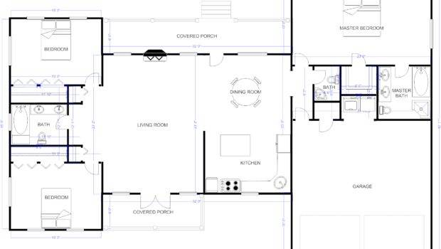 Floor Plan Example Ranch House
