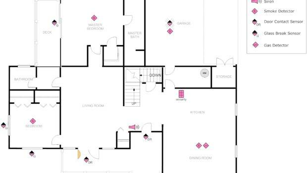 Floor Plan Example Security