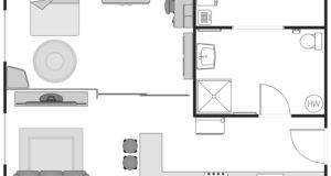 Floor Plan Illustrates Details Interior Design Flat